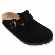 Birkenstock Boston Soft Footbed Suede Leather Clog - Unisex - D-EE Width