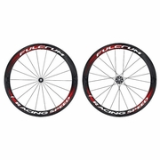 Fulcrum Racing Speed Carbon Tubular Bicycle Wheelset - Black/Red