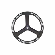 HED H3 Flamme Rouge Carbon Tubular Rear Bicycle Wheel
