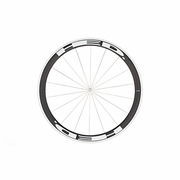 HED Jet 4 Flamme Rouge Tubular Front Bicycle Wheel - Stallion Build