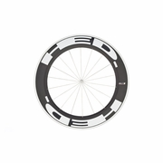 HED Jet 9 Flamme Rouge Clincher Front Bicycle Wheel - Stallion Build