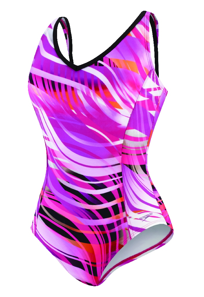Speedo Moving Current Comfort Strap Swimsuit - Women's Size 16 Color FuchsiaRose at Sears.com
