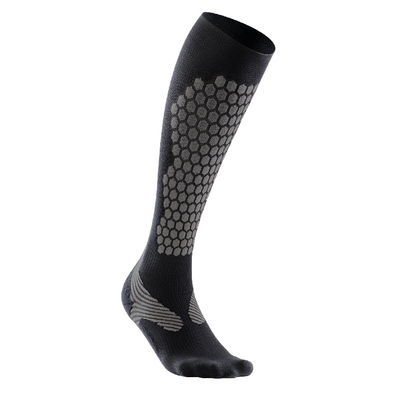 2XU Elite Alpine Compression Sock Women's Size L Black Gray U.S.A. & Canada