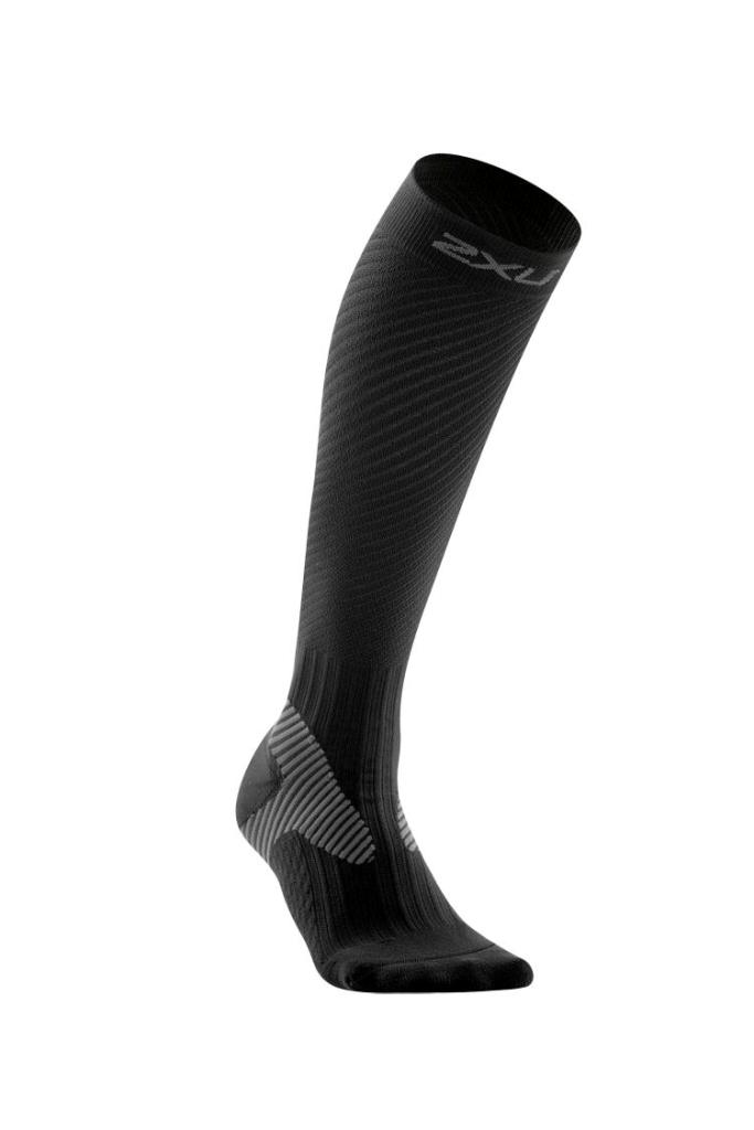 2XU Elite Compression Sock Women's Size XL Black Grey U.S.A. & Canada