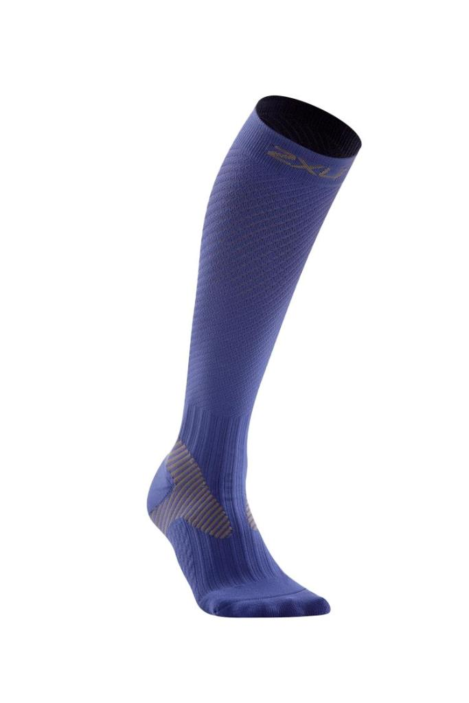2XU Elite Compression Sock Women's Size XS Blue Grey U.S.A. & Canada