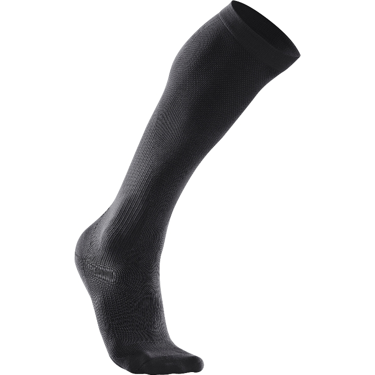 2XU Performance Run Compression Sock Women's Size M Black U.S.A. & Canada