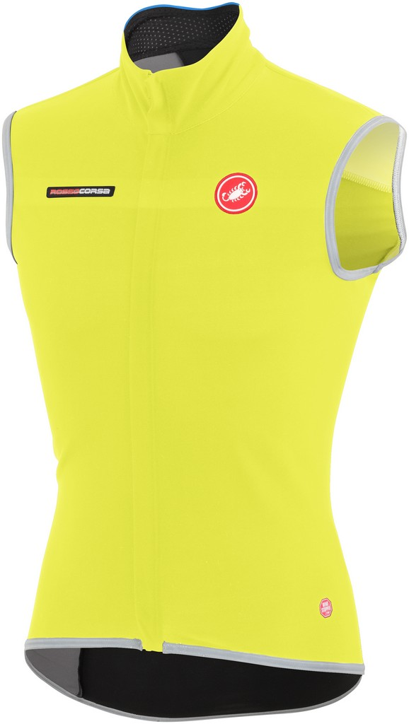 Castelli Fawesome 2 Cycling Vest Men's Size M YellowFluo U.S.A. & Canada