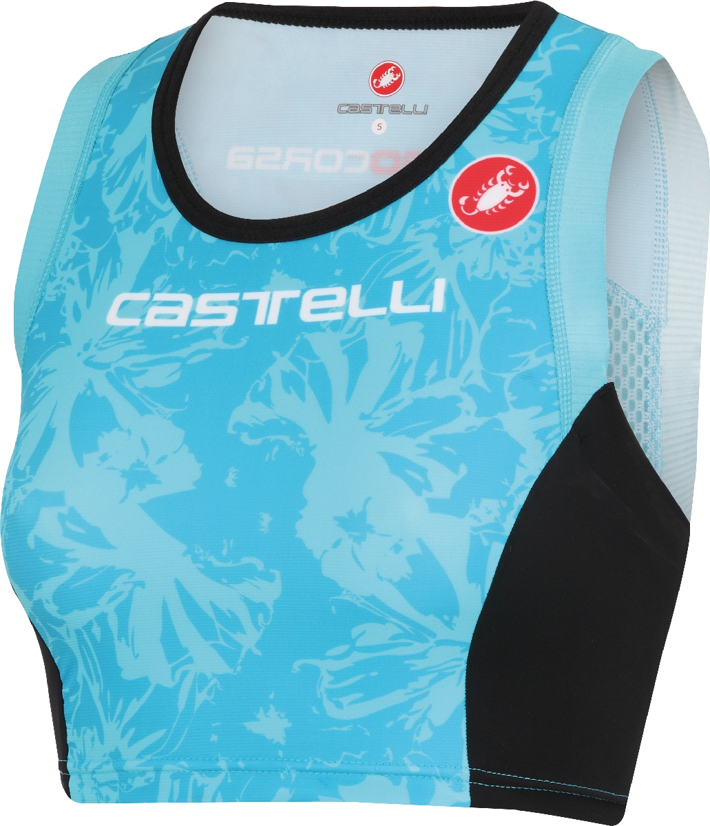 Castelli Free Short Triathlon Top Women's Size L PastelBlue U.S.A. & Canada
