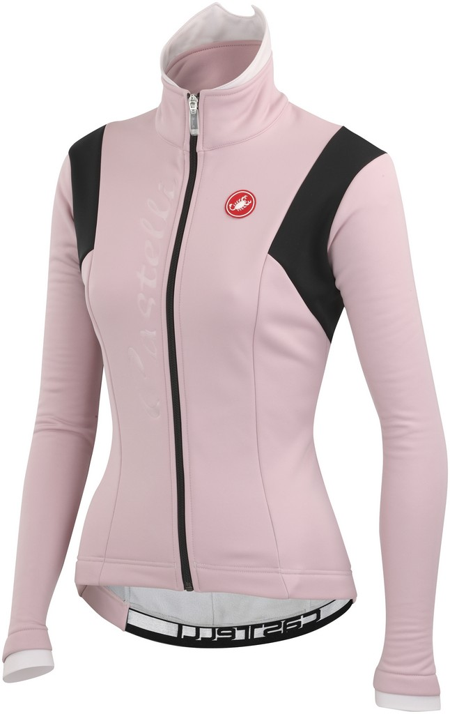 Castelli Magia Cycling Jacket Women's Size S OldRose PowderRose Black U.S.A. & Canada