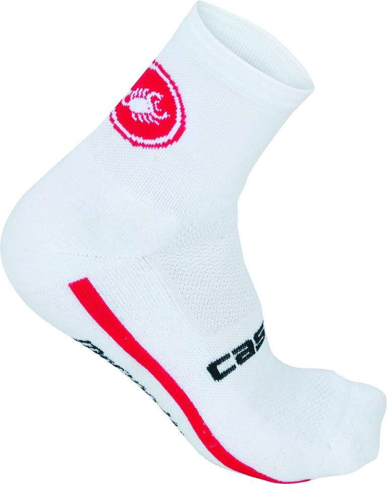 Castelli Merino 9 Cycling Sock Men's Size L XL White U.S.A. & Canada