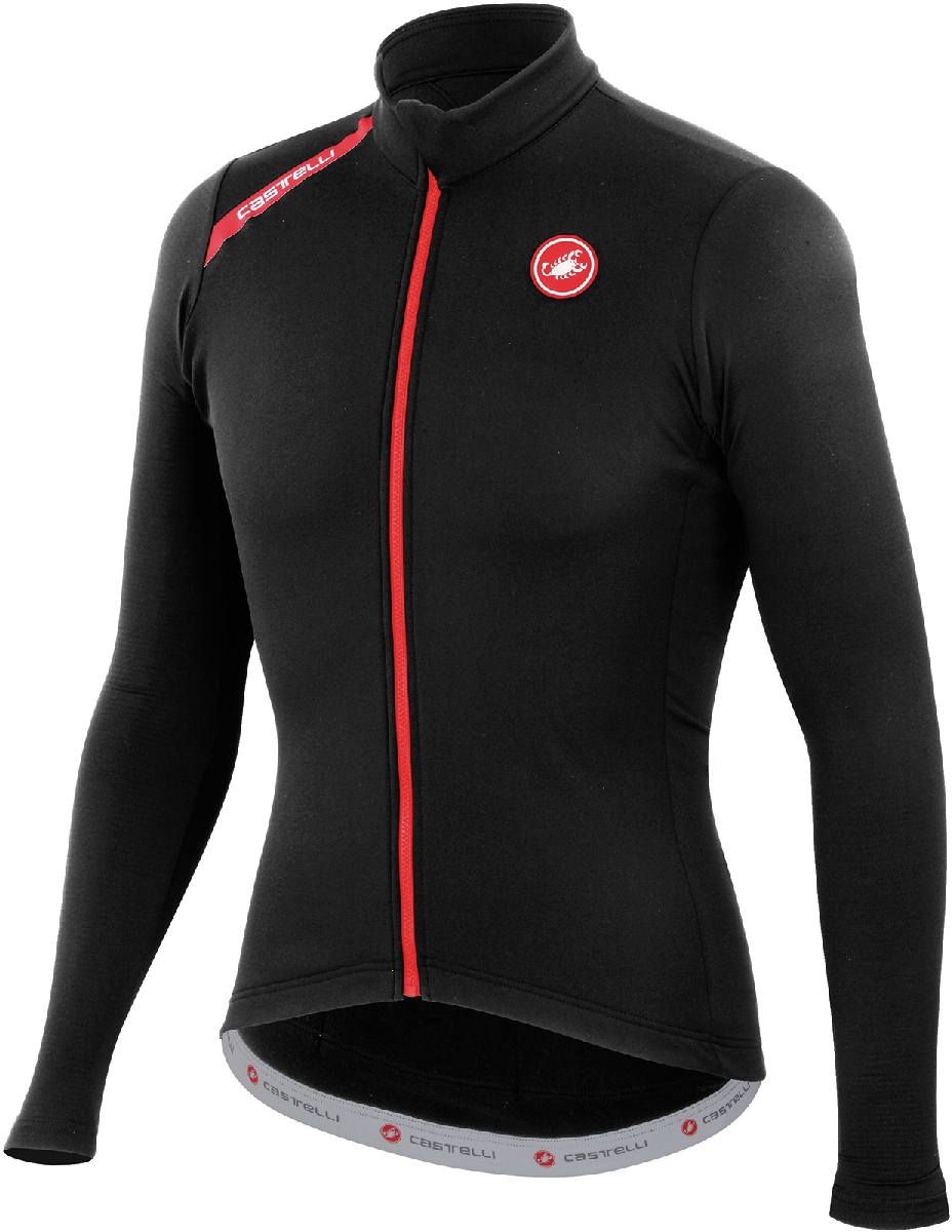 Castelli Puro Long Sleeve Cycling Jersey Men's Size XL Black U.S.A. & Canada