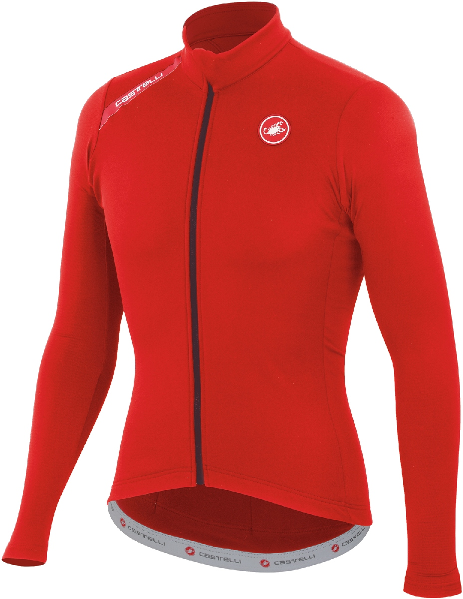 Castelli Puro Long Sleeve Cycling Jersey Men's Size XXL Red U.S.A. & Canada