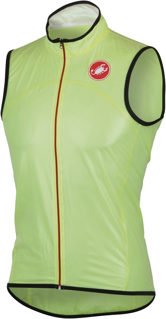 Castelli Sottile Due Cycling Vest Men's Size S YellowFluo U.S.A. & Canada