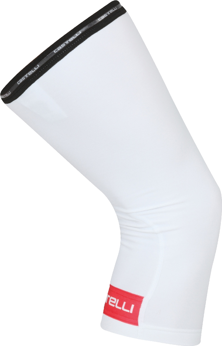 Castelli Thermoflex Knee Warmer Size S White Red U.S.A. & Canada