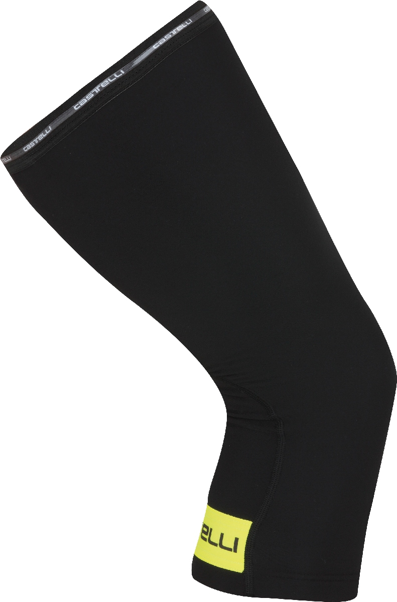 Castelli Thermoflex Knee Warmer Size L Black YellowFluo U.S.A. & Canada
