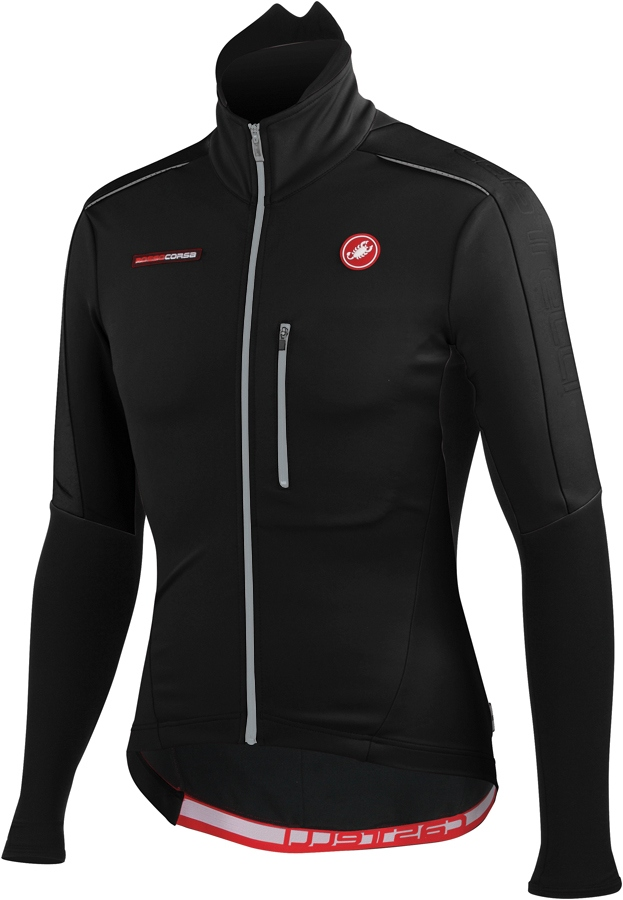 Castelli Trasparente Due Wind FZ Long Sleeve Cycling Jersey Men's Size M Black U.S.A. & Canada