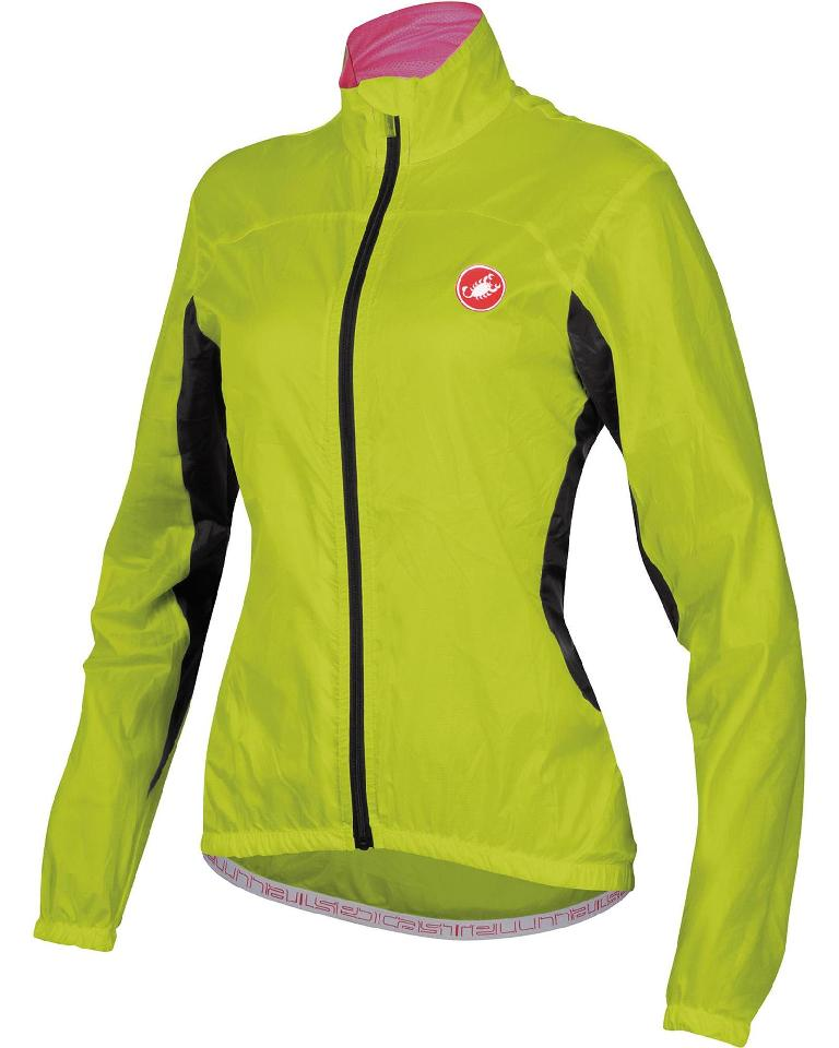 Castelli Velo Cycling Jacket Women's Size S Lime U.S.A. & Canada