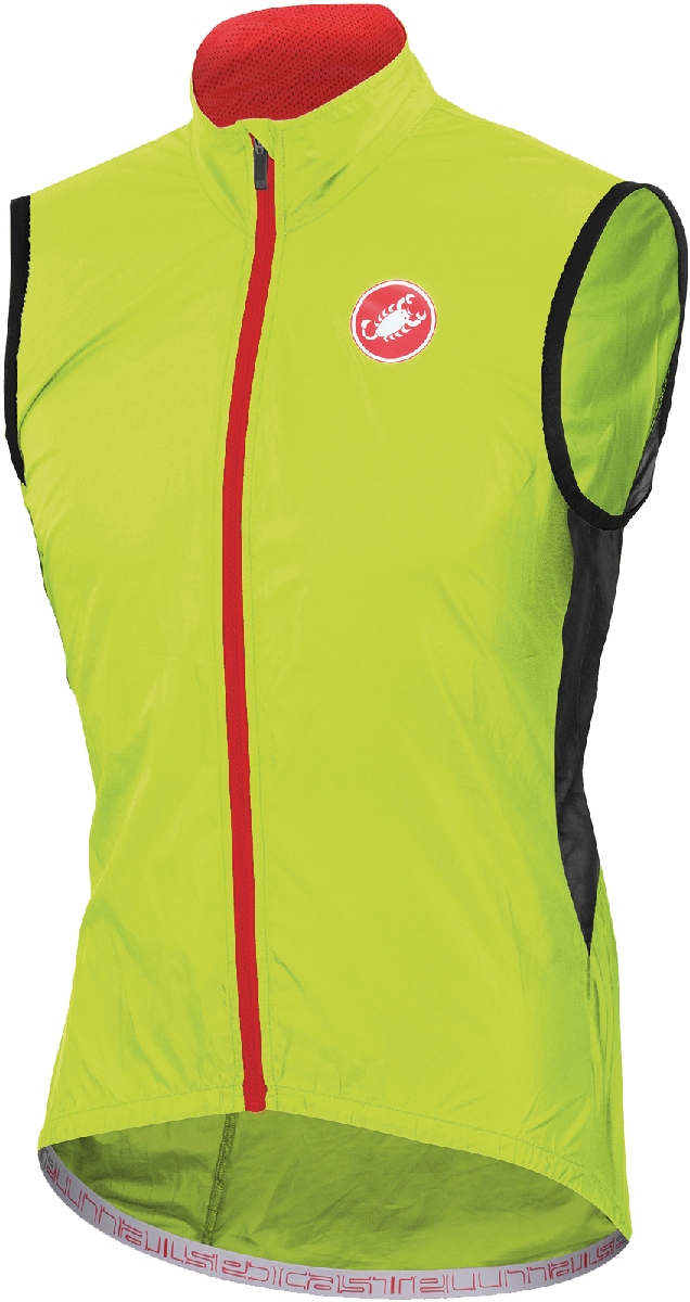 Castelli Velo Cycling Vest Men's Size L YellowFluo U.S.A. & Canada