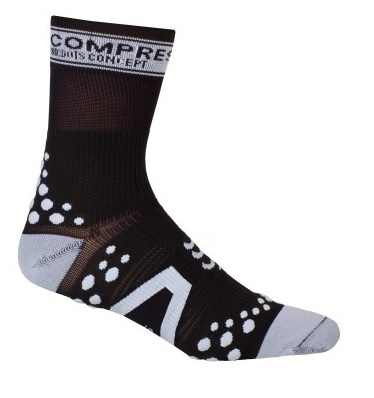 CompresSport Pro Racing V2 High Cut Cycling Sock Size T2 Black White U.S.A. & Canada