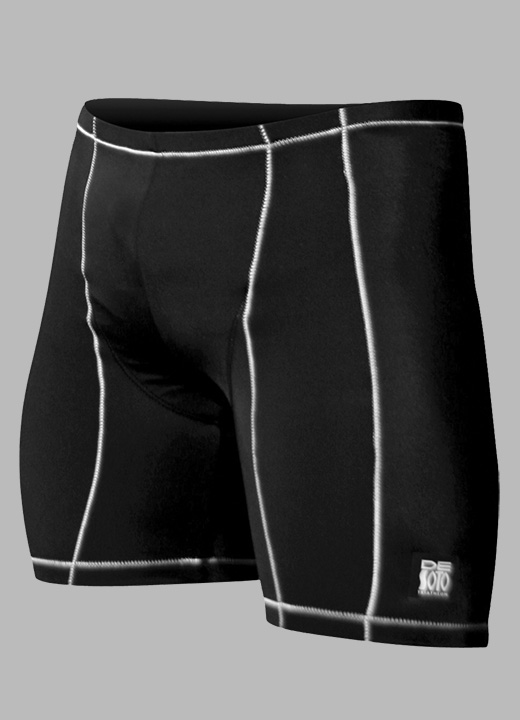 De Soto Carrera Triathlon Short Men's Size XS Black White U.S.A. & Canada