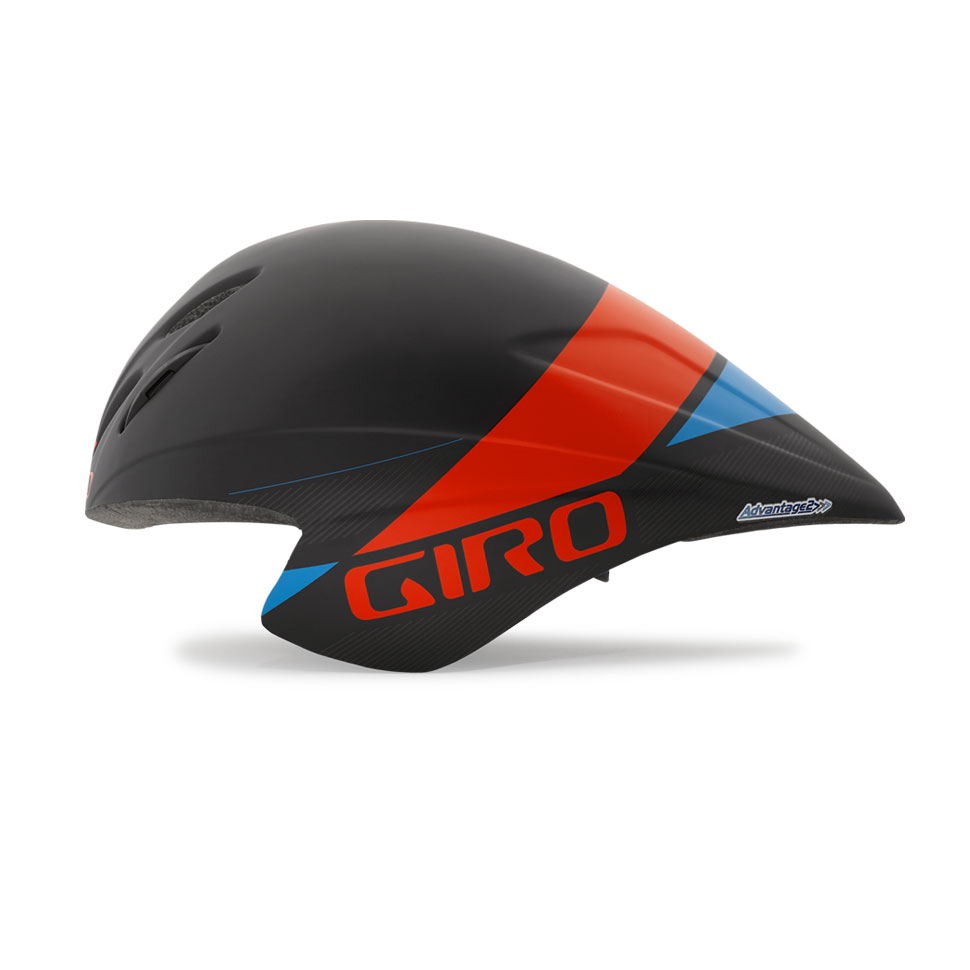 Giro Advantage 2 Time Trial Helmet Size S MatteBlack GlowingRed Blue U.S.A. & Canada