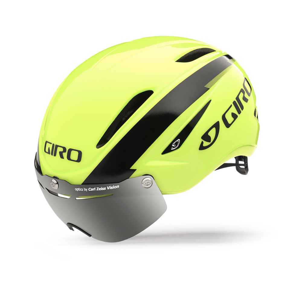 Giro Air Attack Shield Time Trial Helmet Size S HighlightYellow Black U.S.A. & Canada