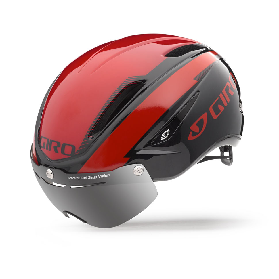 Giro Air Attack Shield Time Trial Helmet Size L Red Black U.S.A. & Canada