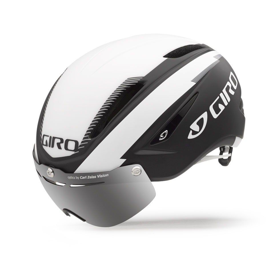 Giro Air Attack Shield Time Trial Helmet Size M MatteBlack White U.S.A. & Canada