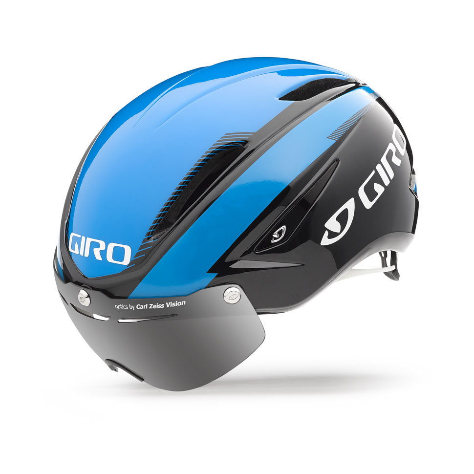 Giro Air Attack Shield Time Trial Helmet Size L Blue Black U.S.A. & Canada