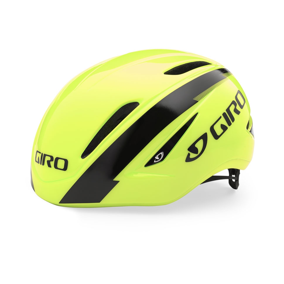 Giro Air Attack Time Trial Helmet Size L HighlightYellow Black U.S.A. & Canada