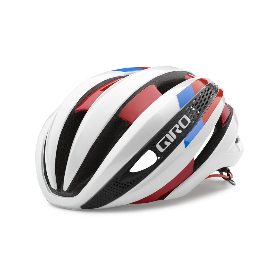 Giro Synthe Road Helmet Size S White Red Blue U.S.A. & Canada