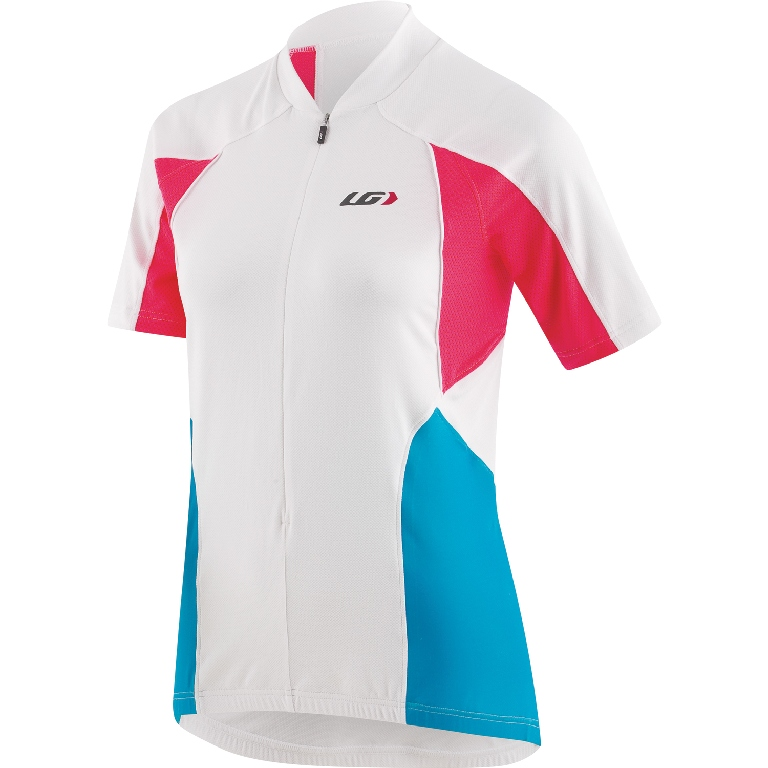 Louis Garneau Beeze Vent Short Sleeve Cycling Jersey Women's Size XL White U.S.A. & Canada