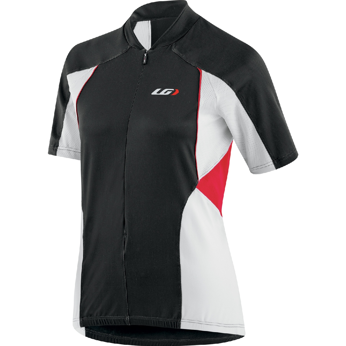 Louis Garneau Beeze Vent Short Sleeve Cycling Jersey Women's Size M Black Red White U.S.A. & Canada