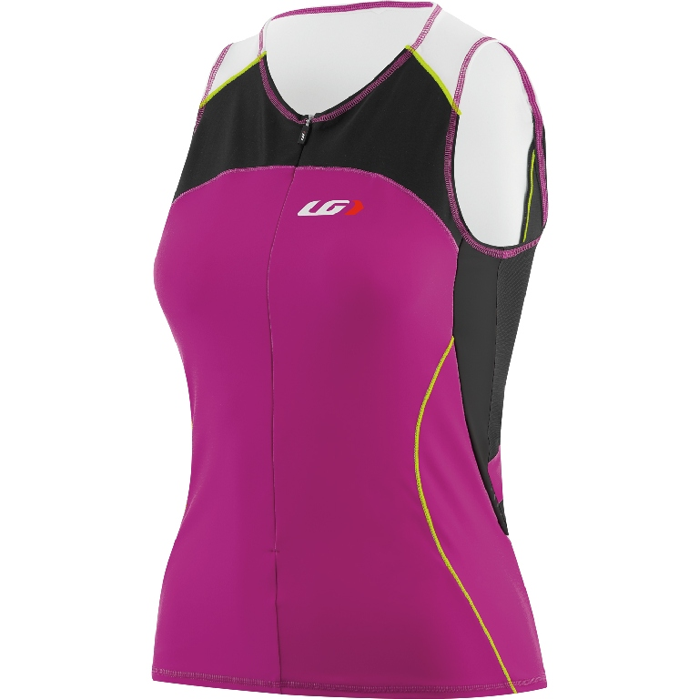 Louis Garneau Comp Sleeveless Triathlon Top Women's Size L CandyPurple U.S.A. & Canada
