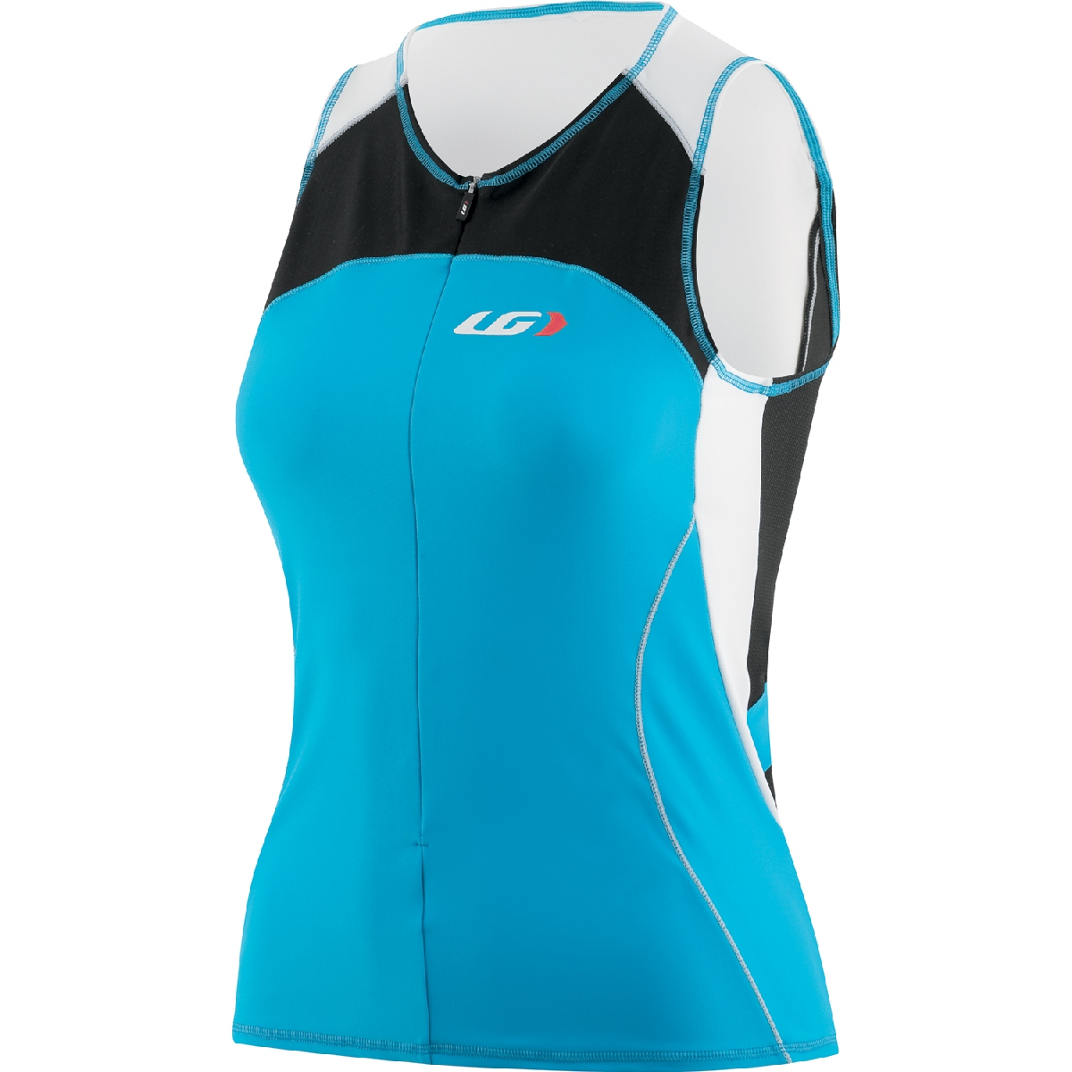 Louis Garneau Comp Sleeveless Triathlon Top Women's Size M AtomicBlue U.S.A. & Canada