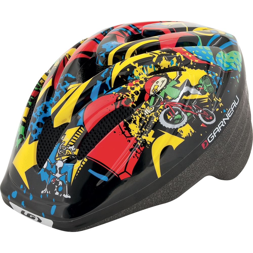 Louis Garneau Flow Cycling Helmet Kid's Size M L Graffiti U.S.A. & Canada