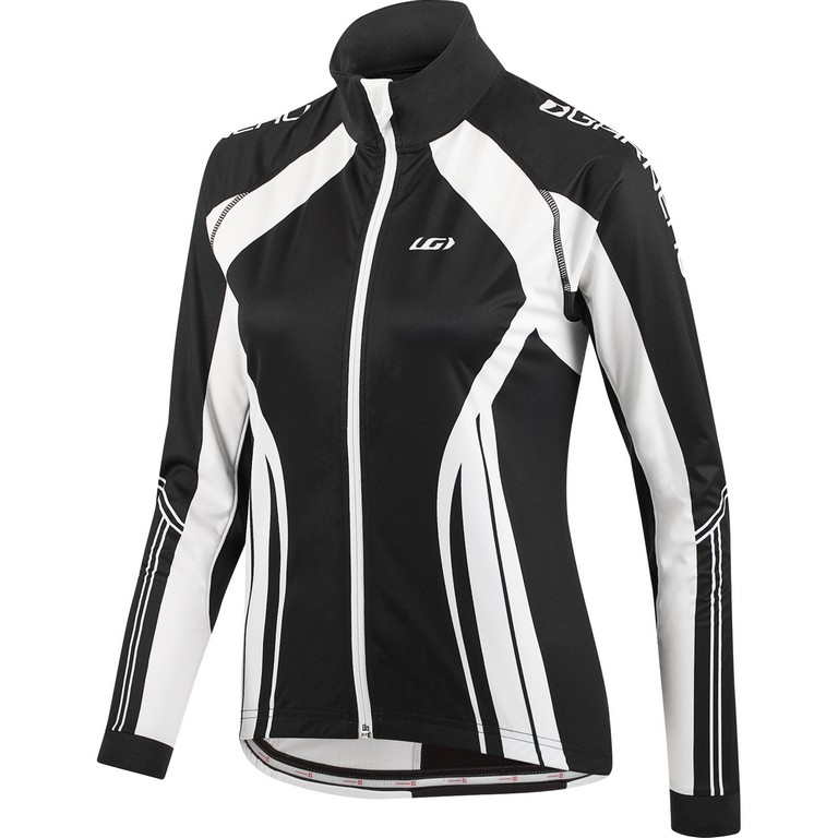 Louis Garneau Glaze 2 Long Sleeve Cycling Jersey Women's Size M Black White U.S.A. & Canada