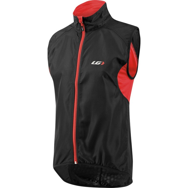 Louis Garneau Nova Cycling Vest Men's Size XXL Black Red U.S.A. & Canada