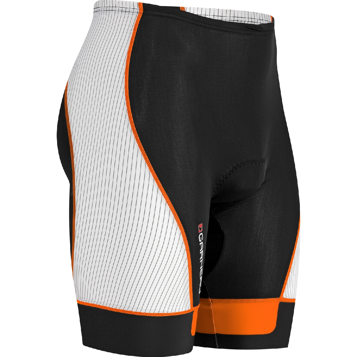 Louis Garneau Pro 8 Triathlon Short Men's Size XL Black FluoOrange U.S.A. & Canada