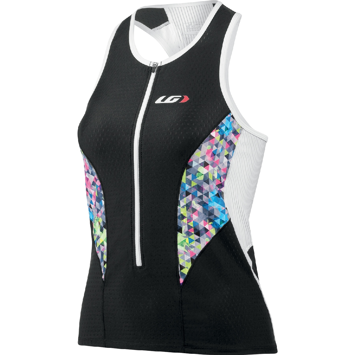 Louis Garneau Pro Triathlon Top Women's Size L Black Multi U.S.A. & Canada