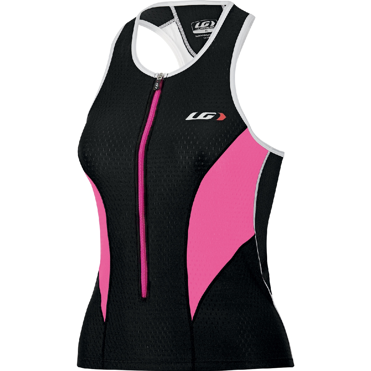 Louis Garneau Pro Triathlon Top Women's Size L Black FlashPink U.S.A. & Canada