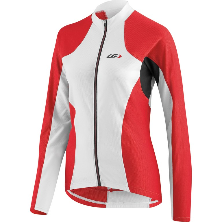 Louis Garneau Ventila Long Sleeve Cycling Jersey Women's Size M White Red Black U.S.A. & Canada