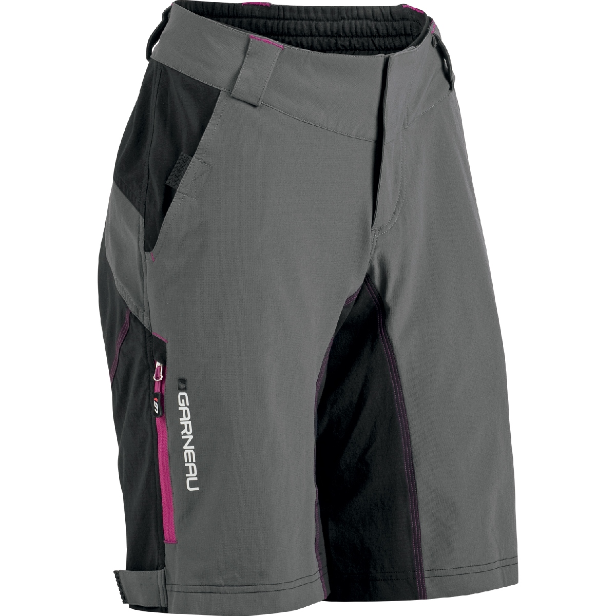Louis Garneau Zappa MTB Shell Cycling Short Women's Size S Black Grey U.S.A. & Canada