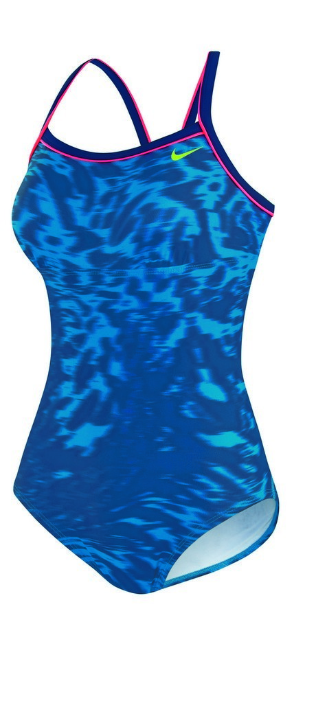 Nike Mid Support Hyper Filter Lingerie Tank Swimsuit Women's Size 18 LightBlueLacquer U.S.A. & Canada
