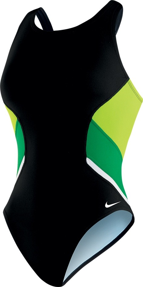 Nike Poly Team Splice Fast Back Tank Swimsuit Girl's Size 26 CourtGreen U.S.A. & Canada