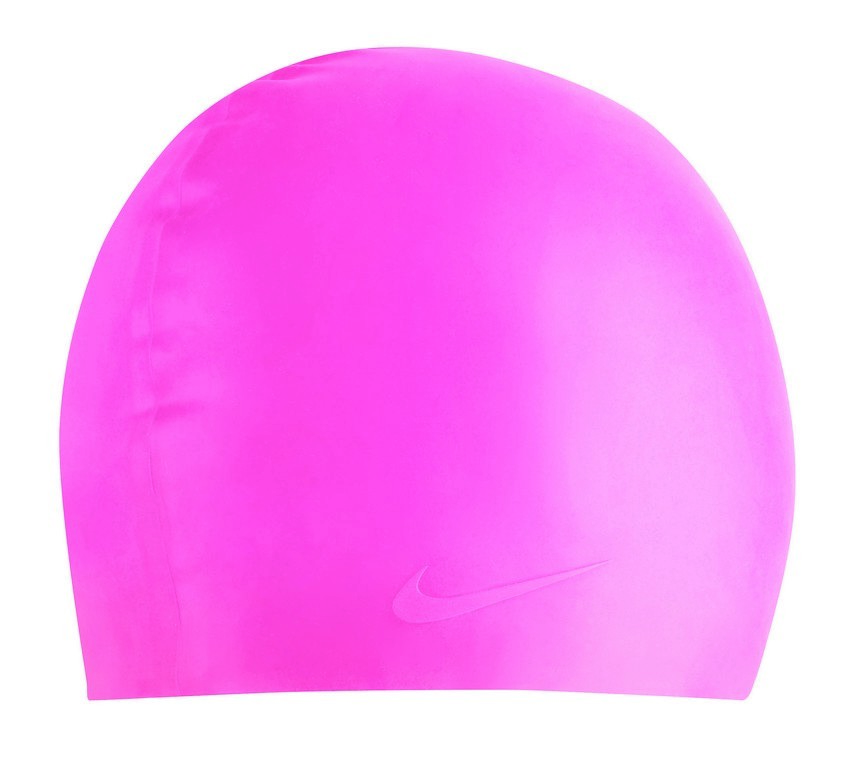 Nike Solid Silicone Swim Cap Size OS Pink U.S.A. & Canada