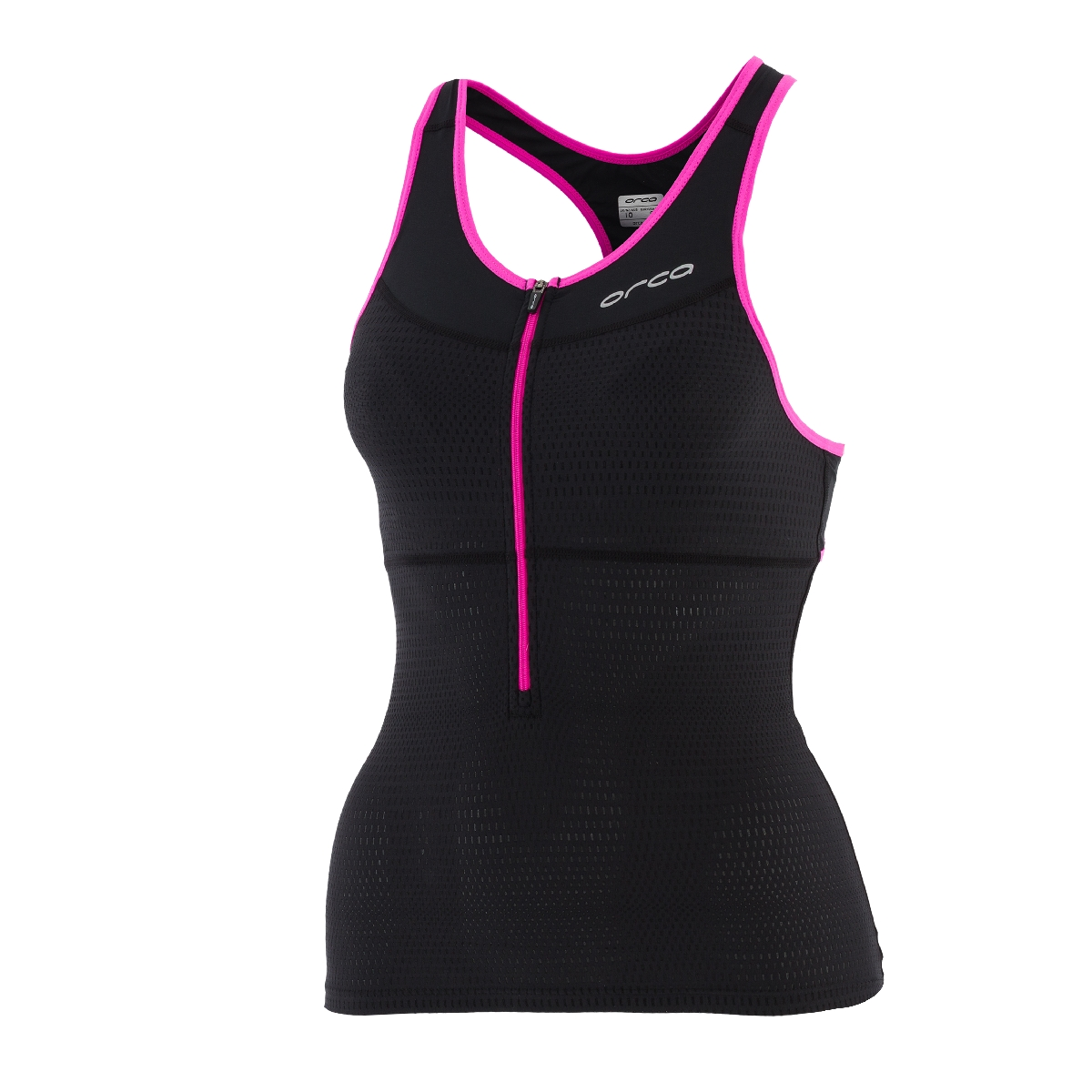 Orca 226 Support Triathlon Top Women's Size S Black PoppyPink U.S.A. & Canada