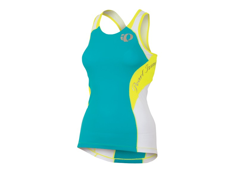 Pearl Izumi Elite In R Cool Triathlon Singlet Women's Size XS ScubaBlue ScreamingYellow U.S.A. & Canada