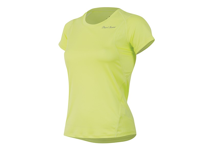 Pearl Izumi Fly Short Sleeve Running Top Women's Size L SunnyLime U.S.A. & Canada