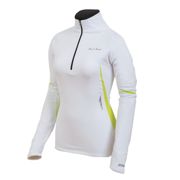 Pearl Izumi Fly Thermal Running Top Women's Size M White Lime U.S.A. & Canada